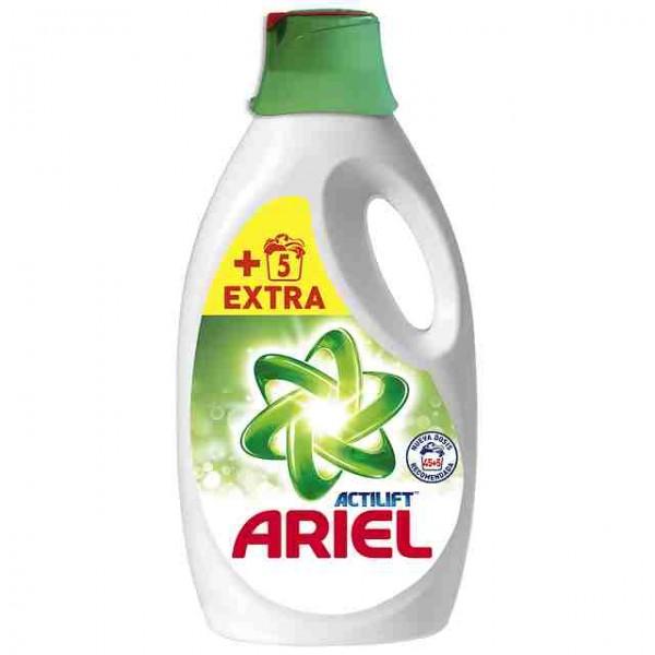 Detergente liquido ariel actilift, 45+5 lavados extra