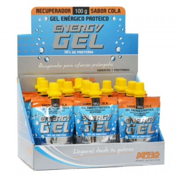 Exp. energy gel expositor 15 envases