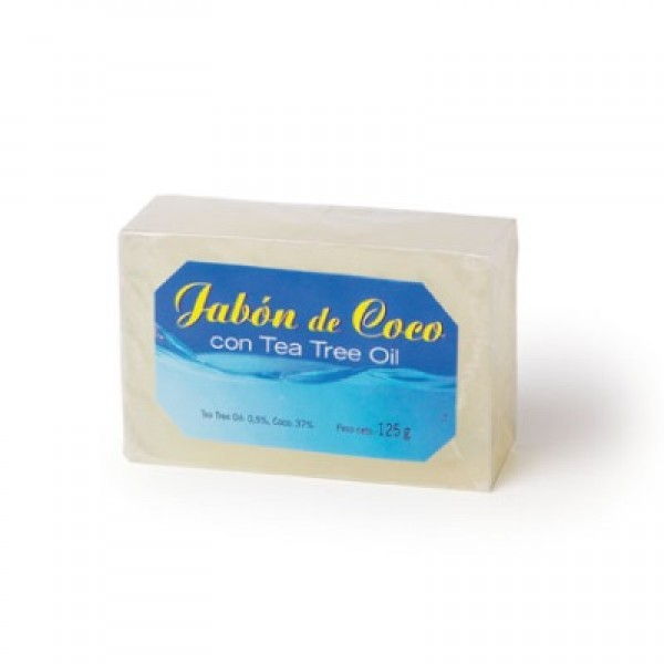 Jabón coco + tea tree oil 125g