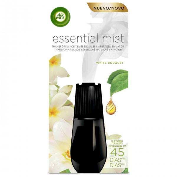 Airwick ambientador essential mist recambio white bouquet