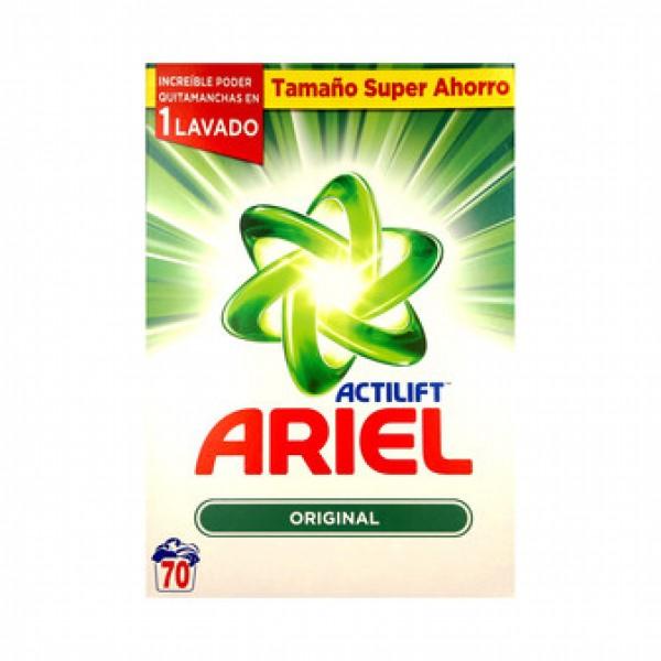 Ariel actilift detergente en polvo tamaño super ahorro 70 lavados