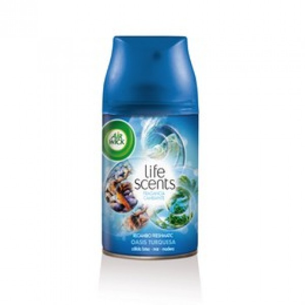 Airwick freshmatic recambio max-life scents oasis turquesa 250 ml