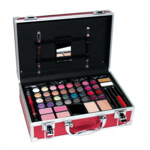 Mirlans maleta maquillaje en color gris plata ref. 6622