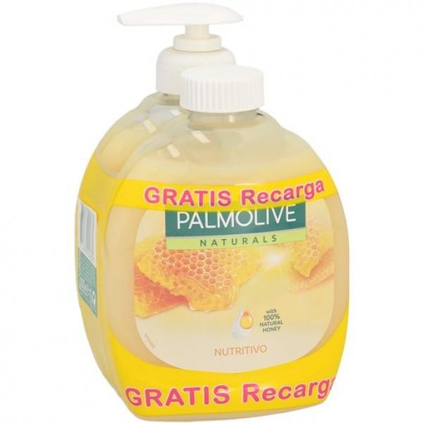 Palmolive jabón de manosleche y miel dosificador 300 ml. + recarga gratis