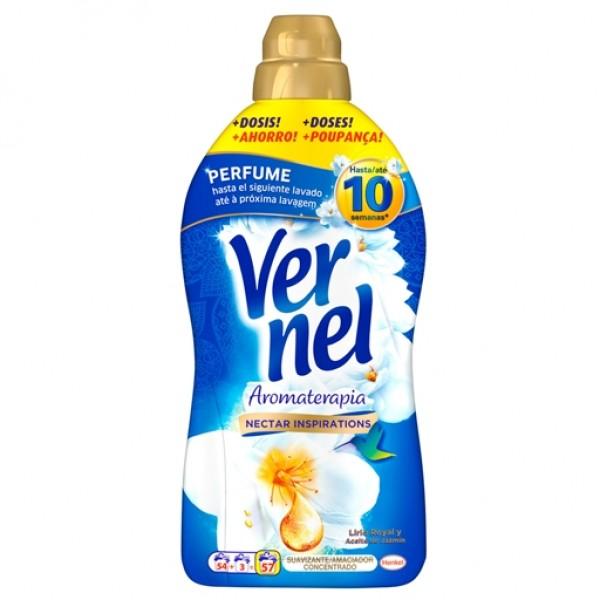 Vernel aromaterapia suavizante concentrado aceite de Jazmín y Lirio 54+3 dosis
