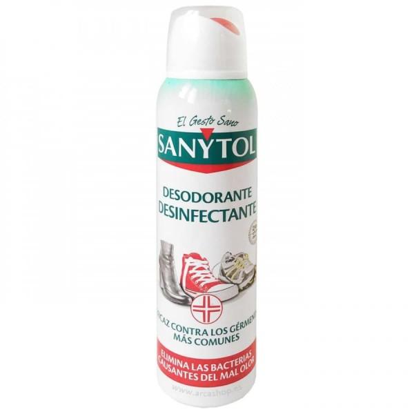 Sanytol desodorante desinfectante para calzado 150ml.