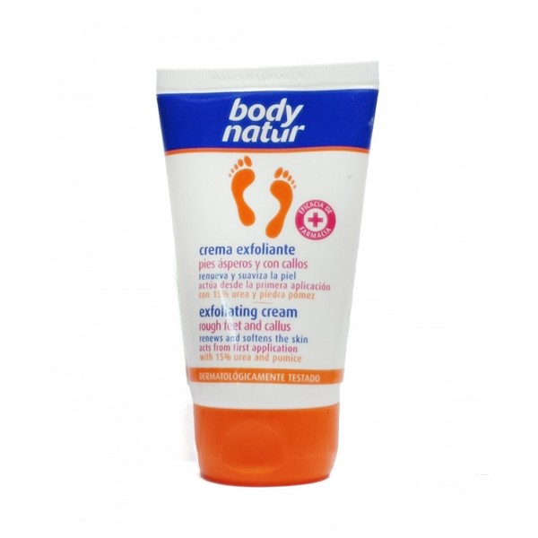 Body natur cuidado pies crema exfoliante 100ml.