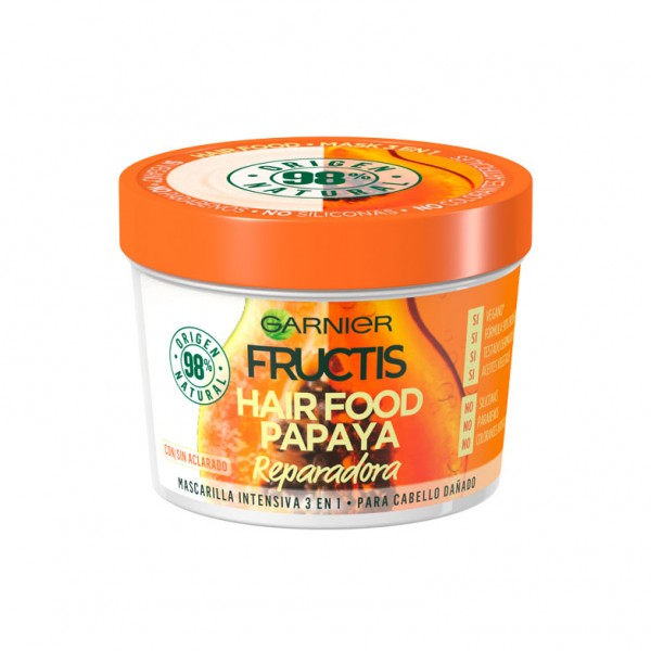 Fructis mascarilla intensiva hair food papaya reparadora para cabello dañado 390ml.