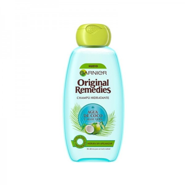 Garnier original remedies champú hidratante agua deccoco y aloe vera 300ml.