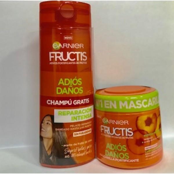 Garnier fructis mascarilla adios daños  300 ml + champu gratis 250 ml