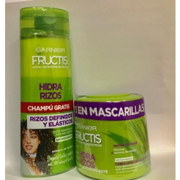 Garnier fructis mascarilla hidra rizos  300 ml + champu gratis 250 ml