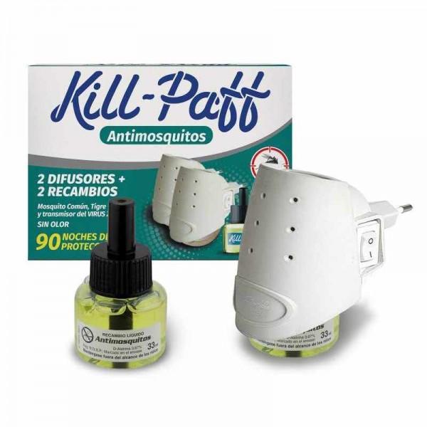 Kill paff antimosquitos 2 difusores + 2  recambios
