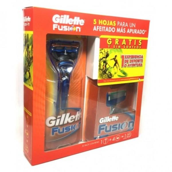 Gillette maquina fusion  + 4 recambios
