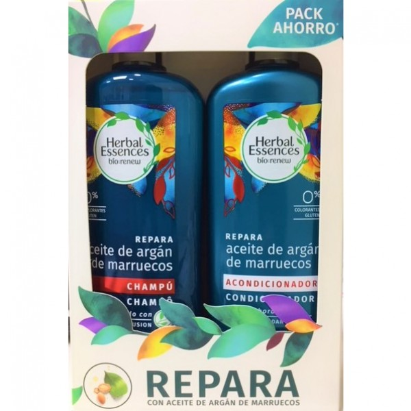 Herbal champu aceite de argan marruecos 400 ml + acondicionador 400 ml
