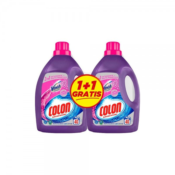 Colon detergente gel vanish 40 lav.  2 x 1 gratis