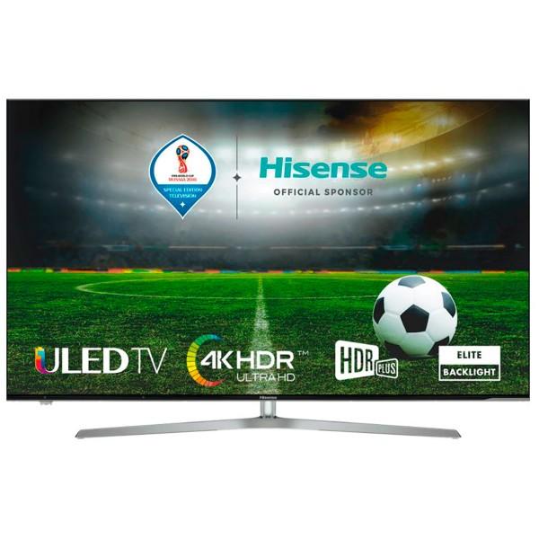 Hisense h55u7a televisor 55'' uled lcd uhd 4k hdr 2400hz smart tv wifi bluetooth