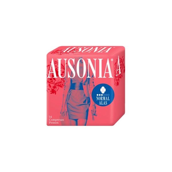 Ausonia air dry compresas normal con alas 14u.