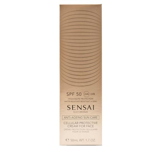 Kanebo sensai silky bronze cellular protective cream for face spf50 50ml