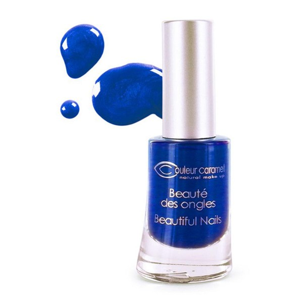 Couleur caramel beaute des ongles laca de uñas 58 bleu nuit