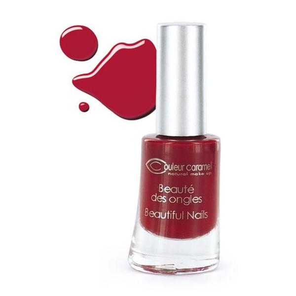 Couleur caramel beaute des ongles nails 8 rouge mat