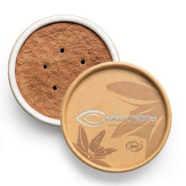 Couleur caramel bio mineral foundations polvos 08 ochred brown