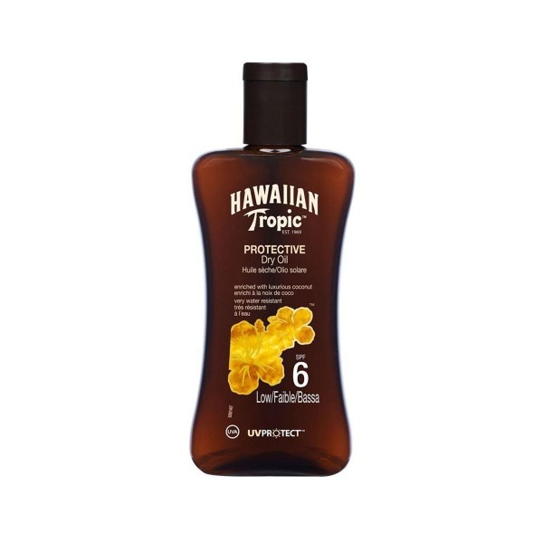 Hawaiian tropic protective dry oil spf6 low 200ml