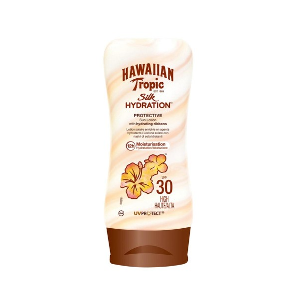 Hawaiian tropic silk hydration sun locion spf30 high 180ml