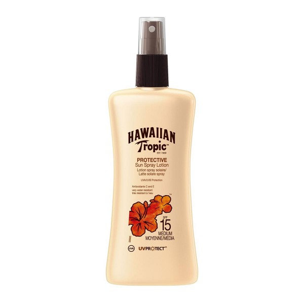 Hawaiian tropic protective sun spray locion uv spf15 medium 200ml vaporizador