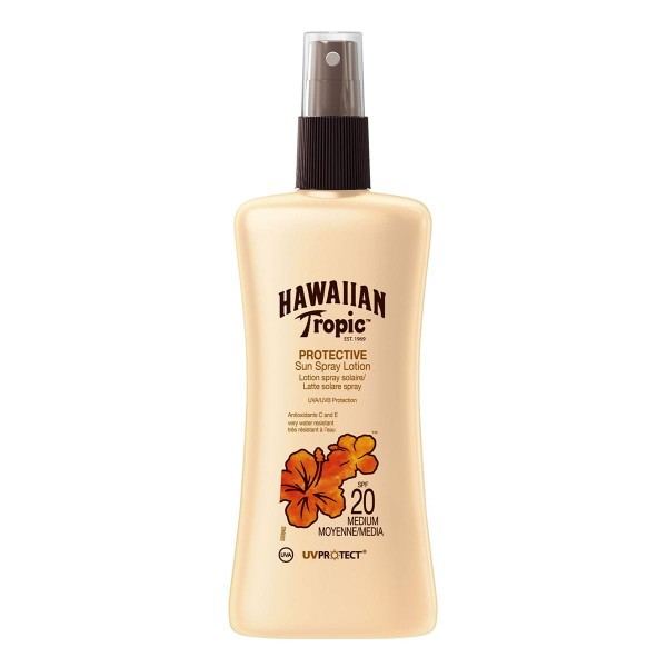 Hawaiian tropic protective sun spray locion uv spf20 medium 200ml vaporizador