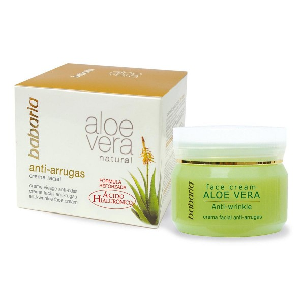 Babaria natural crema facial anti-arrugas aloe 50ml