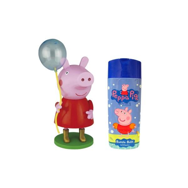 Peppa pig peppa pig gel de baño 300ml + figura globo 1u
