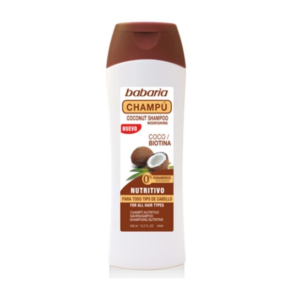 Babaria coco champu nutritivo todo tipo cabello 400ml