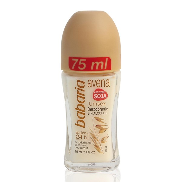 Babaria avena contiene soja desodorante roll-on sin alcohol 75ml