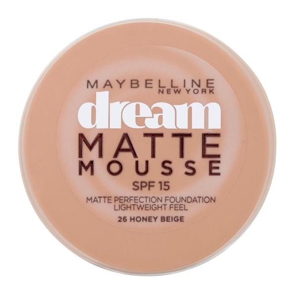 Maybelline dream mat base espuma 26 honey beige