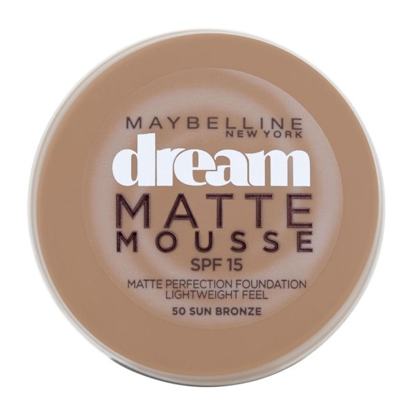 Maybelline dream mat base espuma 50 sun bronze