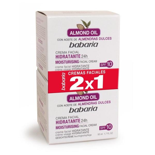 Babaria almond aceite facial hidratante crema 100ml + aceite facial hidratante 50ml