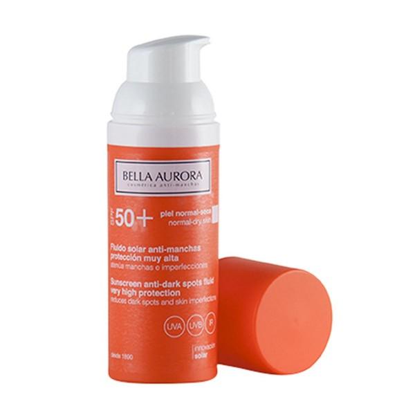 Bella aurora anti-manchas fluido solar spf50 piel normal-seca