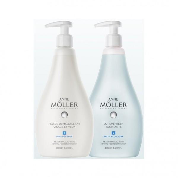 Anne moller anne moller desmaquillante fluido 400ml + locion fresh 400ml
