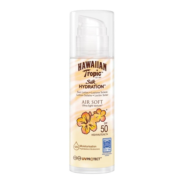 Hawaiian tropic silk hydration air soft ultra-light texture sun locion spf50 150ml