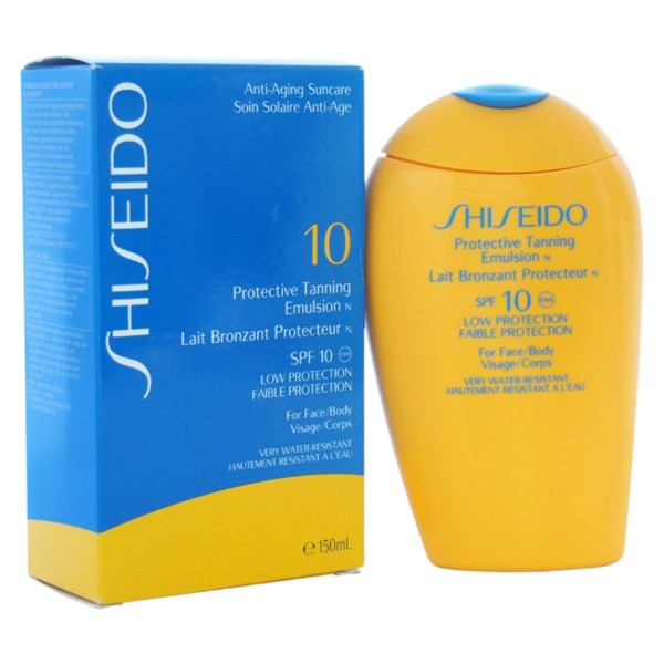 Shiseido anti-aging sun care protective tanning emulsion spf10 150ml