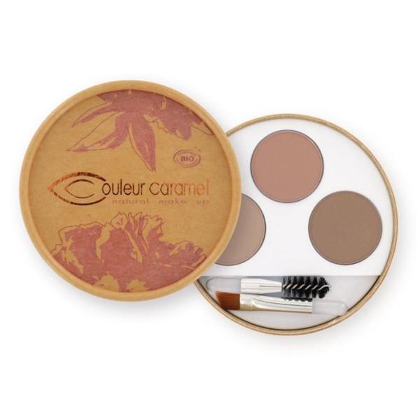 Couleur caramel natural makeup eyebrow kit blondes
