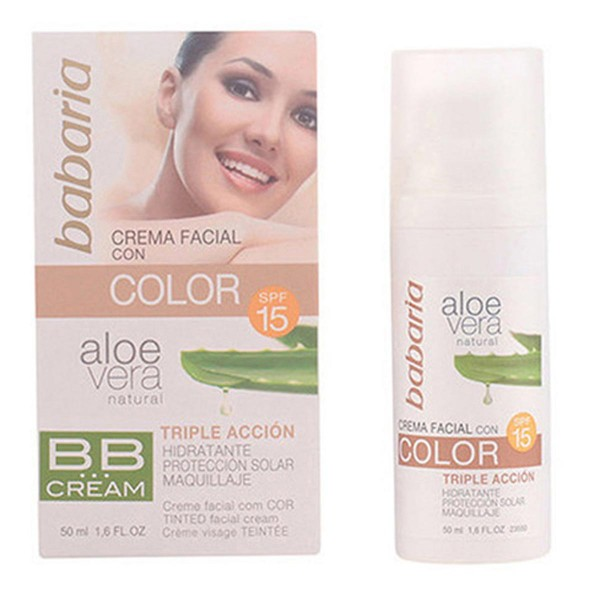 Babaria aloe crema facial con color spf15 50ml