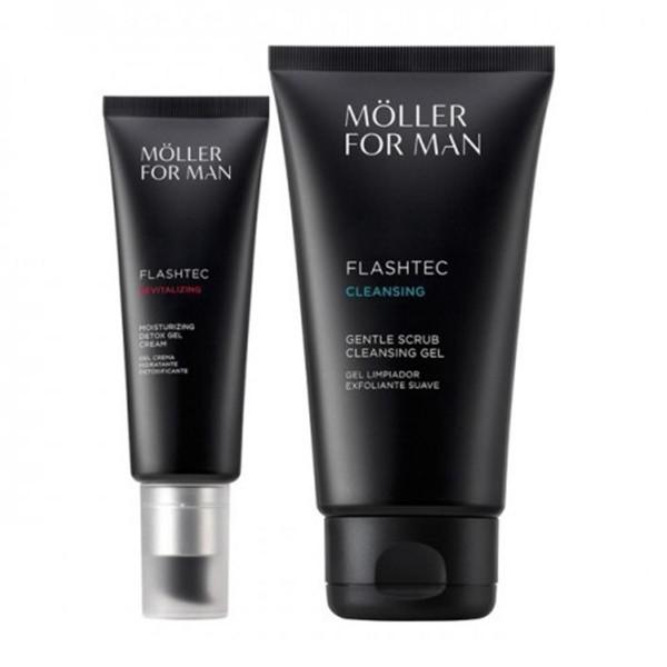 Anne moller for man gel cream flashtec detox 50ml + gel limpiador 125ml