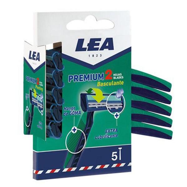 Lea premium cuchillas desechables 2 hojas basculantes