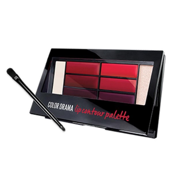 Maybelline color drama lip contour palette 02 crimson