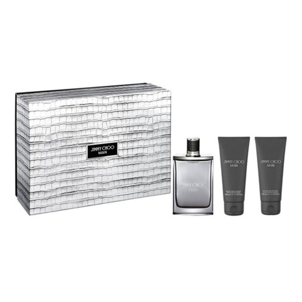 Jimmy choo man eau de toilette 100ml vaporizador + gel de ducha 100ml + after shave balsamo 100ml