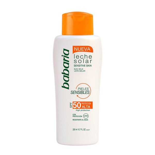Babaria sensitive skin leche solar spf50 200ml