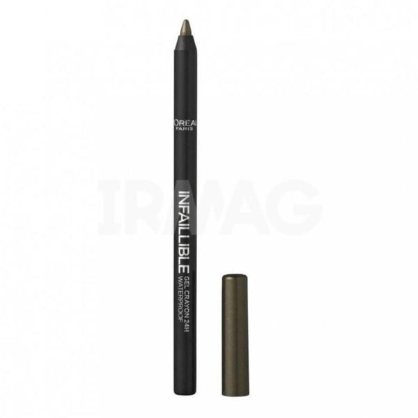 Loreal infaillible gel crayon 24h eyeliner waterproof 08 rest in khaki