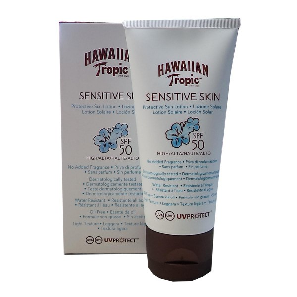 Hawaiian tropic sensitive skin protective sun locion spf50 90ml