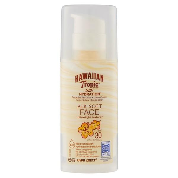 Hawaiian tropic silk hydration air soft face sun locion spf30 50ml